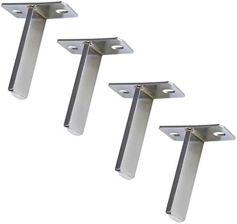 Tタイプ クロームメッキ ソファの足 家具サポート拠点 厚い金属 ティーテーブルキャビネットの足 家具固定脚 4個