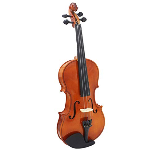 B Blesiya 4/4 Full Size Natural Color Acoustic Violin Fiddle with Case Bow Rosin Wipe Cloth by B Blesiya