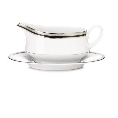 Austin Platinum Gravy Boat with Saucer 2 Piece Set