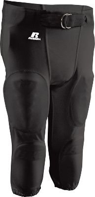 Russell Youth Football Pants (Russell Athletic Youth No Fly Practice Football Pant With Snaps And Belts , Black, medium )