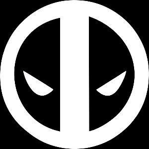 amazon com deadpool face white vinyl car laptop window wall decal rh amazon com Deadpool Face Sketch Deadpool Face Logo Profile Picture