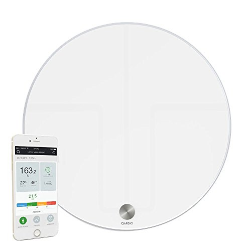 QardioBase Smart Digital Bathroom Scale: Qardio Fitness, BMI, Weight & Body Composition Analyzer - Bluetooth & WiFi Sync with App, Opal White