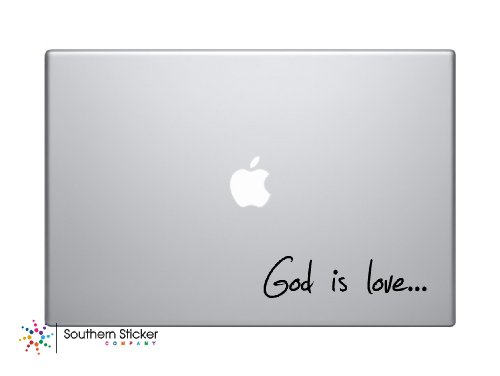 God Is Love Laptop Apple Silhouette Doctor Bible Quote