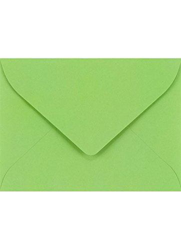 #17 Mini Gift Card Envelopes (2 11/16 x 3 11/16) - Limelight (50 Qty.) | Perfect for the Holidays, Holding Place Cards, Gift Cards, Notes, and Flower Arrangement Cards |LUXLEVC-101-50