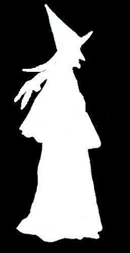 OutletBestSelling Halloween Walking Witch Stencil for Crafts Signs -