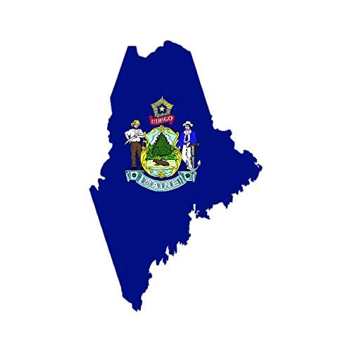 Maine State Oval Sticker Decal Vinyl ME