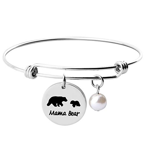 KUIYAI Sweet Family Mama and Baby Bear Expandable Bracelet Bangle Gift for Mothers (Bracelet 1 cub)]()