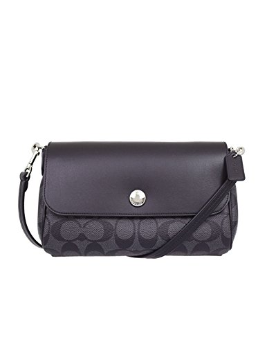 Coach Women's Reversible Crossbody In Signature Coated Canvas, Style F59534 (SV/Black - Usa Coach Outlet