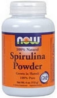 NOW Spirulina Powder, 4-Ounces Pack of 2