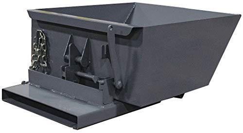 (Gray Self-Dumping Hopper, 6.8 cu. ft, 4000 lb. Load Cap, 17