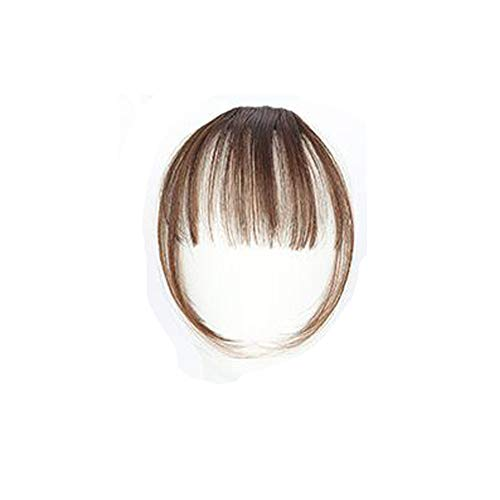 - LiboboPretty Girls Clip On Clip in Front Hair Bang Fringe Hair Extension Piece Thin (D)