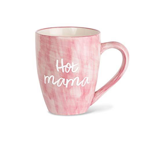 Mom Life Hot Mama Pink Large 20 oz Ceramic Coffee Mug Tea Cup, Pink