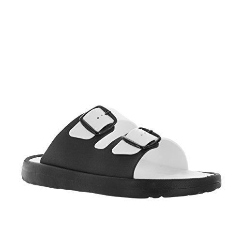 Vlado Footwear Heren Wit / Zwart Danni Vinyl Sandaal Us 11