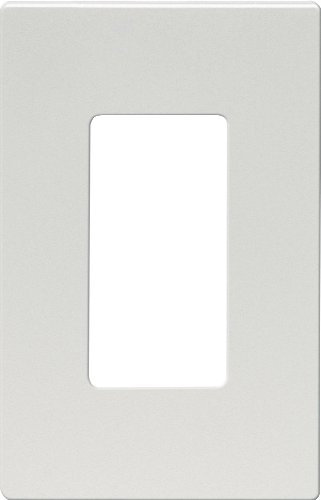 EATON Wiring 9521SG ASPIRE Screwless Wallplate, 1 Gang, Silver Granite ()