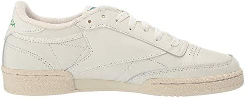 31EGC038h0L. AC Reebok Women's Club C 85 Vintage Sneakers    ImportedRubber soleShaft measures approximately low-top from archDURABLE AND LIGHTWEIGHT MATERIAL: These sneakers feature soft garment leather upper for full-foot support with terry lining on tongue top and heel for comfort with vintage woven Reebok label that adds appeal and styleEFFICIENT FOOT SUPPORT: Die-cut EVA midsole absorbs impact and a padded foam sockliner provides responsive cushioning support which lasts many strolls and jogsCOMFORTABLE AND STURDY DESIGN: Low-cut design gives a sleek and sophisticated silhouette with freedom of motion and quicker transition keeps you moving all day longHIGH-PERFORMANCE CASUAL SHOES: High abrasion rubber outsole adds durable responsiveness; Ideal for daily, casual and athleisure wear