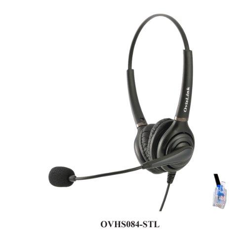 Ovislink Dual EAR Call Center Headset For Shoretel IP Phones