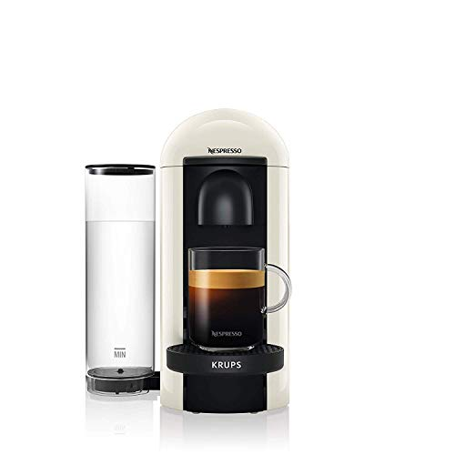 Nespresso, Pod Coffee Machine, Krups, XN903140, White - Claim 100 coffee capsules plus 2 months' (1st & 6th) coffee subscription for free when you buy this product