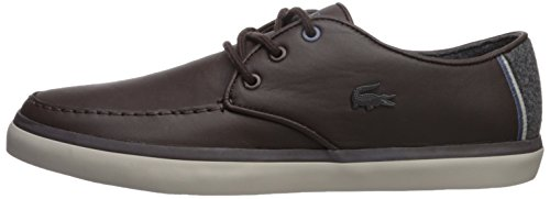 Lacoste Men's Sevrin 417 1 Sneaker, Dark Brown, 8 M US