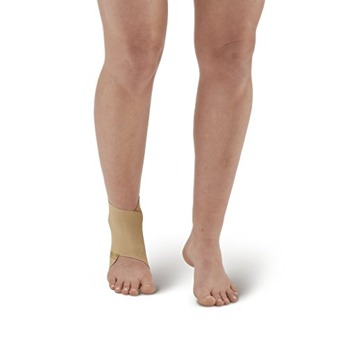 Ames Walker AW Figure 8 Elastic Ankle Support Beige XLarge - Figure-8 design that conforms to the anatomy of the ankle joint - Support for weakened ankles - Improve circulation to promote healing by Ames Walker (Image #2)