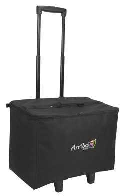 American Dj Roller - Arriba Padded Multi Purpose Case Acr-19 Bottom Rolling Stackable Case Dims 19X12X14 Inches
