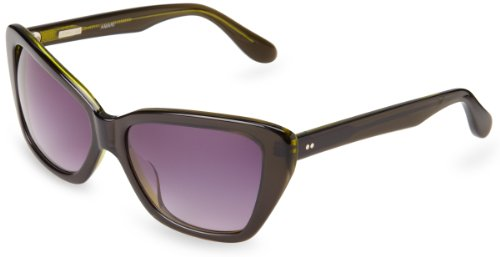Derek Lam Amari Cat-Eye Sunglasses, Green & Crystal, 54 mm by Derek Lam