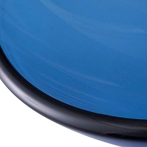 洗面化粧台シンク 現代の強化ガラス容器ボウルシンクの青い滝クローム蛇口コンボ、ポップアップシンクドレイン 和風 洋風 お洒落な 節水 節約 (Color : Blue, Size : 42x42x13.5cm)