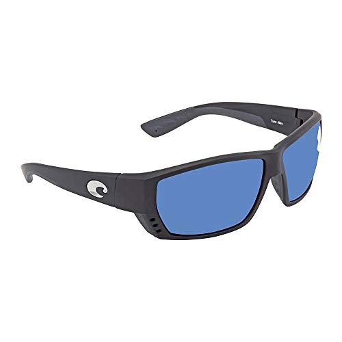 Price comparison product image Costa del Mar Tuna Alley Polarized Iridium Wrap Sunglasses,  Matte Black,  61.9 mm