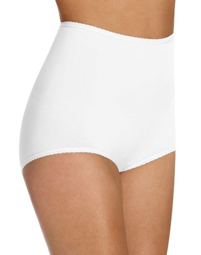 Bali Women`s Set of 6 Cool Cotton Skimp Skamp Brief - Best-Seller! 10, White