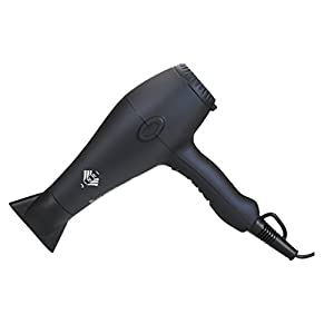 Jinri Professional 1875w Ceramic Ionic Lightweight Hair Dryer with 3 Heat 2 Speed,Black Color