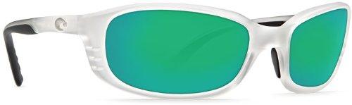 Costa Del Mar BR39GMGLP Brine Sunglass, Matte Crystal Green - Sunglasses Brine