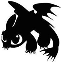 Toothless Dragon Black How to train your dragon die cut vinyl decal sticker wall car laptop
