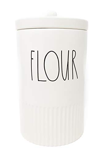 Limited Edition Ceramic - Rae Dunn By Magenta FLOUR Ceramic LL Canister 2019 Limited Edition Style