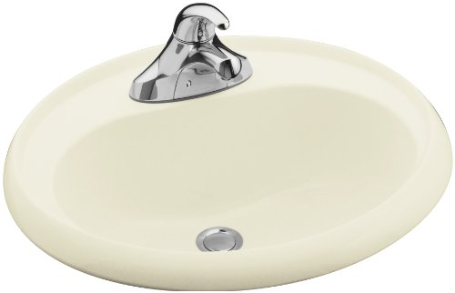 (STERLING 75010140-96 20-Inch by 17-Inch Oval Lavatory, Biscuit)