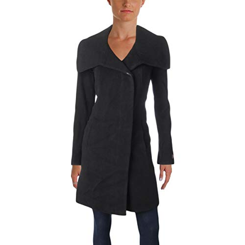 - Anne Klein Womens Winter Wool Blend Car Coat Black 6