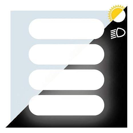 Autocollant R/étror/éfl/échissant Casque et Moto Kit de 4 Stickers Noir