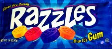 Razzles Original 24 Packs (gum) (24 pouches)