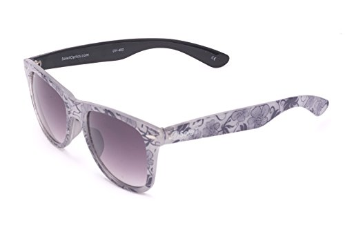 Soleil BROOKLAND Granite Sunglasses, Subtle Floral Frame, Purple Gradient - Lenses Tinting