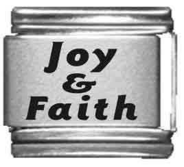 Joy & Faith Laser Italian Char