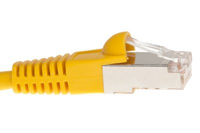 14 FT Cat5e Shielded Ethernet Patch Cable - Snagless Boot - STP - Yellow - Cat5e Network Cable - Bubble Boot - GUARANTEED for ()