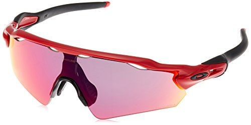 (Oakley Men's Radar Ev Path (a) Non-Polarized Iridium Rectangular Sunglasses, REDLINE, 35 mm)