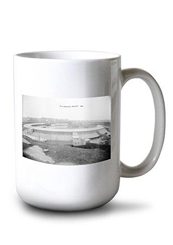 (Lantern Press Polo Grounds, NY Giants, Baseball Photo (15oz White Ceramic Mug))