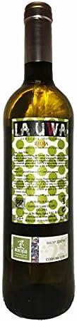 LAUWA Vino Blanco 2018, D.O.Ca. Rioja, Tempranillo, Pack de 3 Botellas de 750ml
