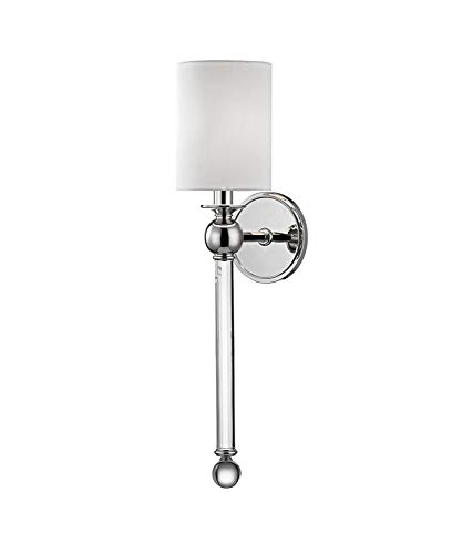 Hudson Valley Lighting 6031-PN One Light Wall Sconce, 1, Polished Nickel