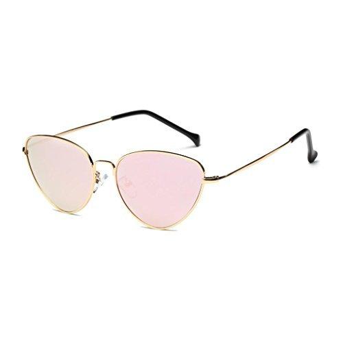 aviador 6 gato verano espejo Hombres moda Mujeres de rosa Unisex gafas ojo Winwintom de lente Vintage Retro Color OvUZBqw