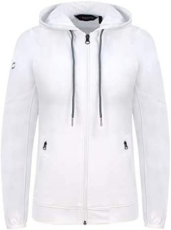 スポーツウェア レディース テニストレーニング フード付き ウォームアップジャケット 素材 吸汗速乾