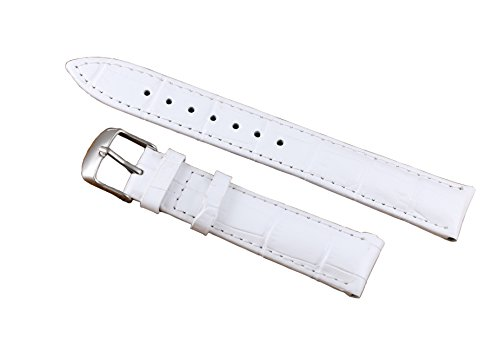 12-22mm-White-Deluxe-Leather-Womens-Watch-Strap-Replacements-Padded-Alligator-Grain-Genuine-Calfskin