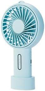 XIAOF-FEN Mini Handheld Portable Fan Color : Blue USB Rechargeable Ventilator,Table Cooler Rotate Fan Detachable Base for Office//Outdoor Travel USB Fan