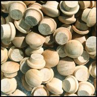 wood buttons plugs - 5