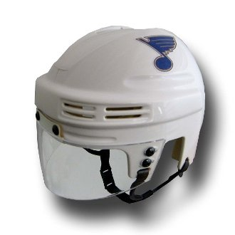 Louis Blues Mini Hockey Helmet - NHL St. Louis Blues Replica Mini Hockey Helmet