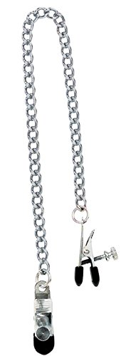 Spartacus Broad Tip Nipple Clamps with Adjustable Link Chain by Spartacus